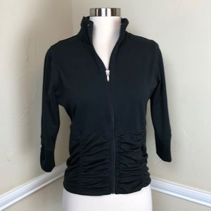 Lucy black rouched jacket